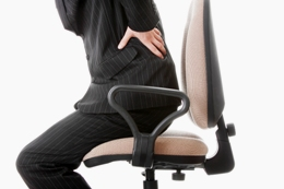 Back pain can be brought on from sitting for long periods